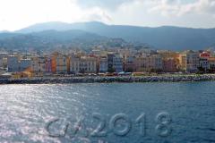 Blick zurück auf Bastia, bye bye Korsika, Autor: Charlotte Moser
